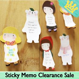 STICKY NOTE STICKY MEMO GRACEBEL GIRL BEAR STATIONERY GOODIE BAG CHRISTMAS
