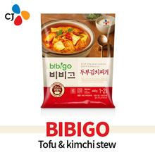[CJ][Cheiljedang] Bibigo (460g*1pack) Tofu and Kimchi Soup 두부김치찌개 Easy Cooking Korean Food