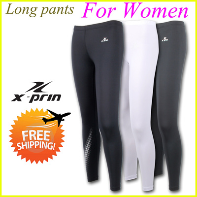 bf3498f70a XPRIN For Women Long Pants Base Layer Compression Performance Tights lady  Rash guard Leggings Sports Wear