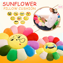 Sunflower Pillow Cushion Funny Emoji Cushion Sunflower Plush Toy Home Sofa Decoration Pillow Kids