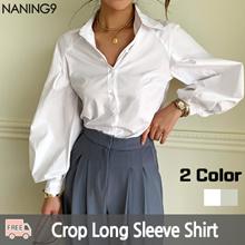 ★ Korea Fashion Business No.1 Naning9 ★ Free Shipping ♥ 2019 S / S NEW! Shirt / Soel Cropped Shirt