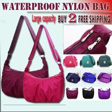【BUY 2 FREE SHIPPING!】waterproof nylon bag simple shoulder bag small bag multi compartment diagonal