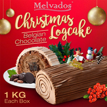 [Melvados] 1Kg Christmas Log Cake !! Available in Belgian chocolate flavours