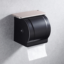Elegant Black Aluminium Toilet Paper Holder/ Bathroom Tissue Organizer/ Toilet Roll Rack