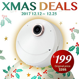 Pi 360 Christmas Deal from $259 to $199 Pi SOLO 360 Wearable Selfie Panoramic Camera with Profession