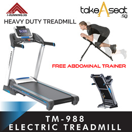 Tm-988 powerful motorized exercise treadmill foldable running at home
