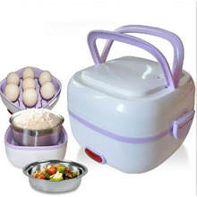Multifunction Electric Lunch Box Stainless Steel Steam Heating Cooker