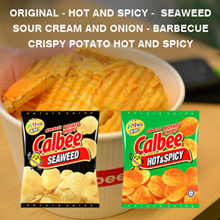 CALBEE Potato Chips (Original Hot and Spicy Seaweed Sourcream Barbeque)