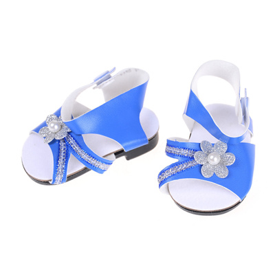 8bfffdd8c4f5 Cute Blue Sandals Summer Doll Shoes Fit For 43cm Zapf Baby Born Doll and 18  inch