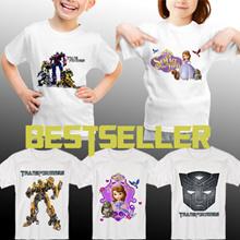 For KIDS! Baju Anak / Kaos Anak Transformers ★ Princess Sofia ★ Unisex Kid T-shirt ★ Size Anak 3-9 ★ High Quality Guaranteed ★