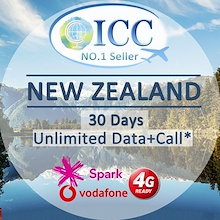 ◆ICC◆【New Zealand Sim Card·5-30 Days】Spark/Vodafone❤ Unlimited Data❤Local package+Call❤ Plug and Use