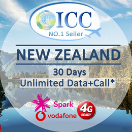 ◆ICC◆【New Zealand Sim Card·5-30 Days】Spark❤ Unlimited Data*❤Local package+Call❤ Plug and Use