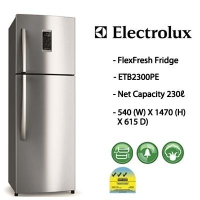 electrolux mini fridge qoo10 etb2300pe electrolux 230l 2 doors flexfresh refrigera