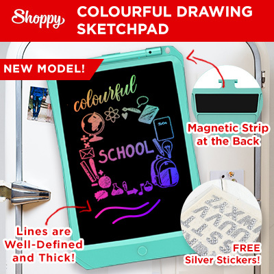 ShoppyPREMIUM QUALITY! Colourful Writing Pad Sketch Pad Drawing Pad Tablet  for kids children work and home