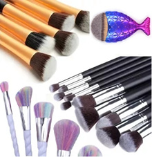 $10.90 ONLY! WEEKEND SALES 10pcs/5pcs Makeup Make-up Brushes Kabuki Brush set kit make up naked 3ce