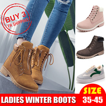 coupon $10/$50★UPDATE!!★winter boots  Winter shoes Women Fashion Boots Ladies  Leather Shoes Waterproof women shoes  plus