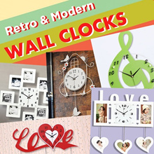 WALL CLOCKS! ★Photo frame Clocks ★Hanging Clocks ★Home Decor ★Furniture ★Party