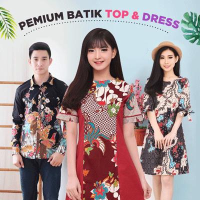 [FREE SHIPPING] Dress Batik Modern / Gaun Batik / Terusan Batik Wanita / Bigsize