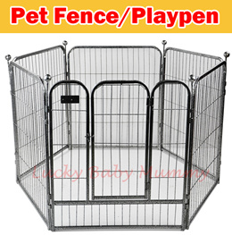 【New】 Metal Foldable Pet safety gate/Pet Fence 70cm / 80cm Height 6 Panel per set(with Gate)