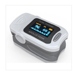 Fingertip Pulse Oximeter with Color OLED - Portable SpO2 and Pulse Rate Monitor (FDA CE)