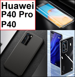 ★ Huawei P40 / P40 Pro Phone Case Casing Cover / Full Coverage Tempered Glass Screen Protector