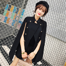 Ladies Chic Coat Jacket Stylish Suit Cloak Top Military Coat OL Women Korean Fashion Trend Outerwear