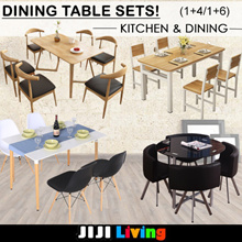 ★Dining Table Sets! ★Comes with Designer Chairs! ★Storage ★Wood ★Shelf ★Organizer