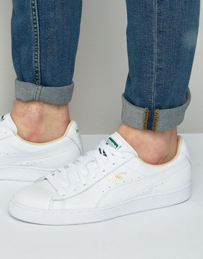 sports shoes dce63 a4b85 Puma Basket Classic LFS Sneakers In White 35436717