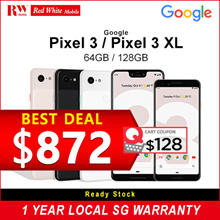 Google Pixel 3/3 XL Multi Models (Black) 1 Year Warranty | Brand New | Local and Ready Stocks