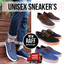 NEW!! free shipping ***UNISEX SNEAKERS RAFF SERIES - DESkA | Material 100% leather suede