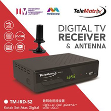 Combo Digital TV Set Top Box and Antenna Package for Singapore and Malaysia with 6 months warranty