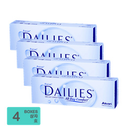 [Free Shipping] Alcon Focus Dailies All Day Comfort One-Day Contact Lenses (30pcs/box) x4