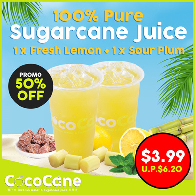 NEW 1+1 Sugarcane Juice Drinks Regular Size