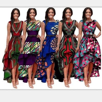 5951abed7b5 Fashion Women Gypsy Traditional African Print Dashiki Party Dress