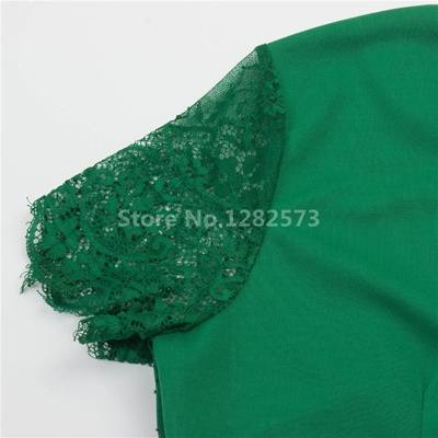 d71f4b0670e50 wholesale In Stock Cheap Simple Green Cocktail Dresses Short Lace Sleeve  Elegant Homecoming Dress Na