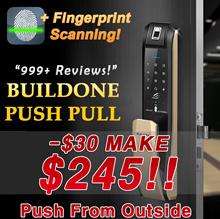 [★MAKE$245!!+$0 PUSH-Official Seller!★] FINGERPRINT BUILDONE PUSH PULL SMART DIGITAL DOORLOCK H7090