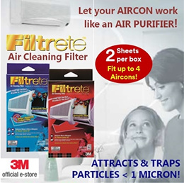 [Official E-Store] Filtrete™ Air Cleaning Filters - Haze /Aircon Filter / Air Purifier