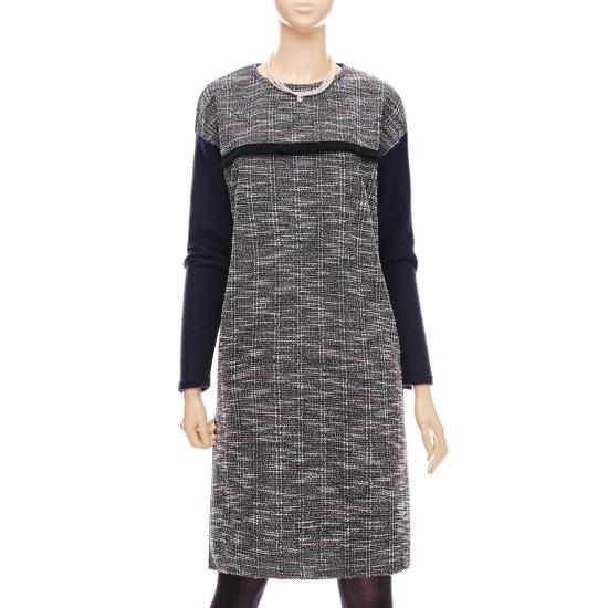 フォーカス・ツイード配色ワンピースVFGW1OP4320VFGW1OP4320 面ワンピース/ 韓国ファッション