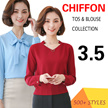 【11.11】  $3.5 LOWEST PRICE  chiffon tops collection /blouse/ plus size/ off shoulder / lace  top/