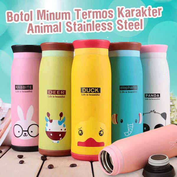 Botol Minum Termos Karakter Animal Stainless Steel Deals for only Rp40.000 instead of Rp40.000