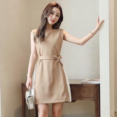 2018 Summer New Fake Two Set Skirt Korean Style Chiffon Dress Up Dress