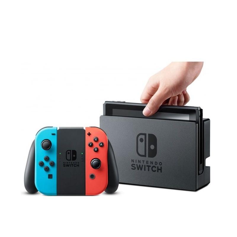 【日規正版】★任天堂 Nintendo Switch ★ 可攜帶的家用遊戲機 / 最多支援8台主機同步遊玩 / 可拆式左右獨立手把 / 兒童模式監控 / 不鎖區