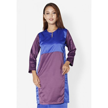 Fitri Colour Block Baju Kurung (Blue)