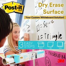 [Official E Store] Post-it® Dry Erase Surface / Custom White Board Solution