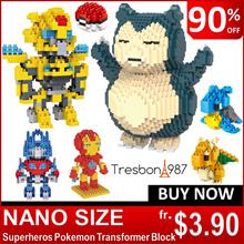 [BEST SELLER]★Nano Pokemon Superhero Block Toys Kids Etc Figure Transformer Avengers