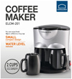 Lock and Lock Coffee maker with 2 mug cup