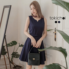 TOKICHOI - Pearl Buttoned Dress-172853-Winter