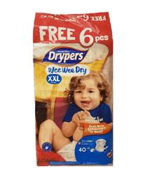Drypers (XXL) 40 + 6 per pack
