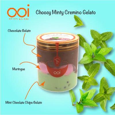 OOI Gelato - Choccy Minty Cremino Gelato 450ml (Ha