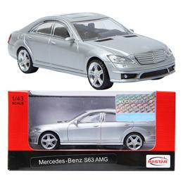 RASTAR Mercedes-Benz S63 AMG Silver 1:43 Die-cast CAR minicar Toy